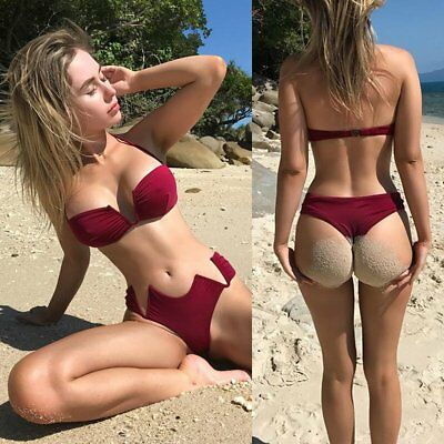 Hot Women Swimwear Bandage Bikini Set Push-up Padded Bra Bathing Suit Swimsuit