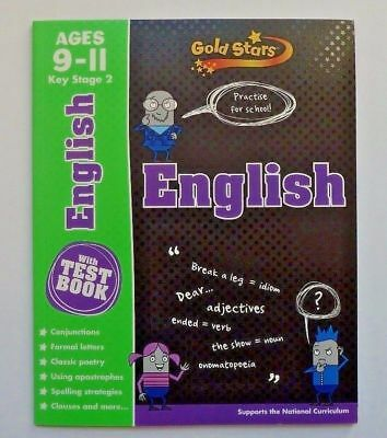 Gold Stars English Practice For School WorkBook With Test Book Ages 9-11 KS2 New