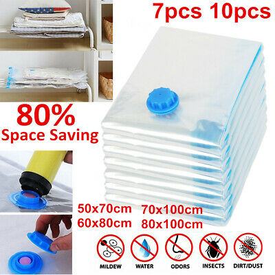 5 to 10 Vacuum Storage Bags Compressing Space Saver Seal Small Medium Large