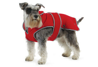 Ancol Muddy Paws Stormguard Fleece Lined Waterproof Rain Coat Dog Coat Harness