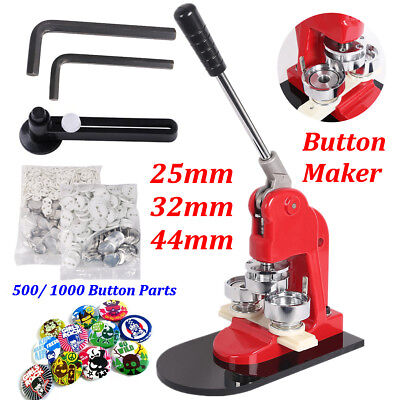 25/32/44mm DIY Button Maker Machine Badge Press Pin Button Parts Circle Cutter