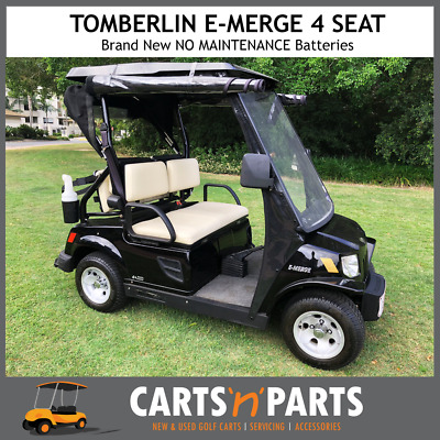 Tomberlin 4 Seat Black Golf Cart Buggy Fast Motor BRAND NEW Batteries