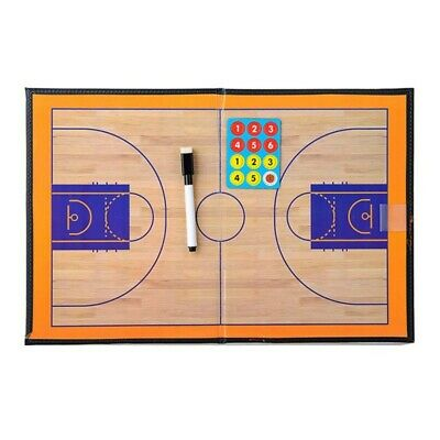 New Basketball Coaching Board Coaches Clipboard Tactical Kit Dry Erase Marker