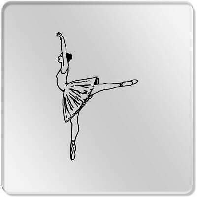 6 x 'Arabesque Pose Ballet' 95mm Clear Coasters (CR00098487)