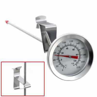 """12"""" Long Probe Food Grade Steel Dial Thermometer For Home Brew Cheese Making"""