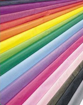 10 Large Sheets Acid Free Biodegradable Quality Tissue Paper 27 Colours 50X75Cm