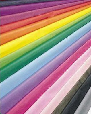 10 Large Sheets Quality Tissue Paper Acid Free Biodegradable 29 Colours 50X75Cm