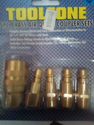 compressor  brass quick air  coupler sets   new old stock clearance