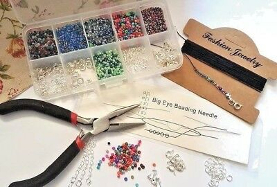 Seed Bead Bracelet Findings Starter Kit, All U Need Make Bracelets/necklace Set