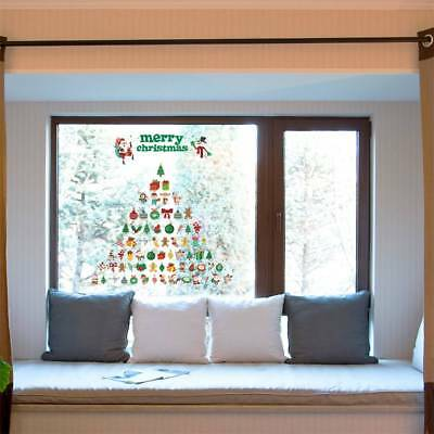 Santa Claus Snowman Christmas Decal Window Glass Vinyl Wall Stickers Removable