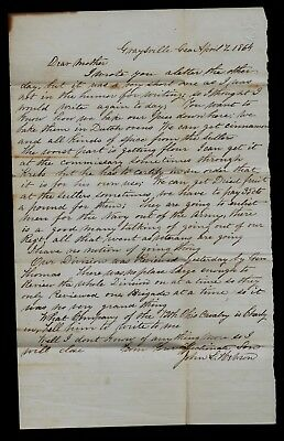 2nd Ohio Infantry CIVIL WAR LETTER from Gaysville Georgia - Ref's Union Navy Etc