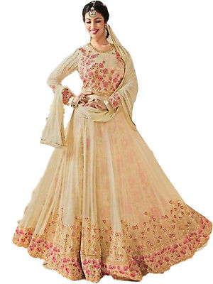 c673e61e1a6 Indian Designer Stitched Georgette Ethnic Partywear Dress Beige Salwar  Kameez