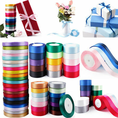 25 Yard Satin Christmas Ribbon 6 10 15 25 38mm Wide Wedding Gift Wrapping Ribbon