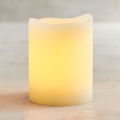 Pair Two 2 Deco Wick™  Ivory 3x4 Wax LED Pillar Candle Pier 1
