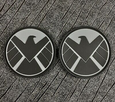 Marvel Avengers SHIELD Black Widow S.H.I.E.L.D PVC Sew on Patches (75mm)