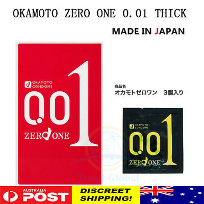 OKAMOTO ZERO ONE 0.01 Thick Condom World Thinnest Condom Made in Japan AU STOCk