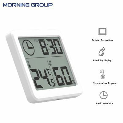 Thermometer Hygrometer ElectronicTemperature and Humidity Monitor Clock