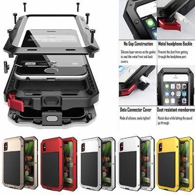 Waterproof Shockproof Aluminum Metal Cover Case For iPhone X 4/5/6 S 6/7 Plus