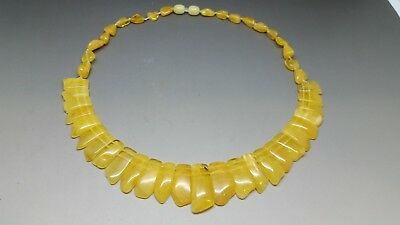 Beautiful Genuine Baltic Amber Cloepatra Necklace for Woman Yellow/Butterscotch