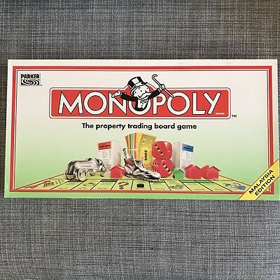 Monopoly Malaysia Edition Board Game Never Played Rare Parker Hasbro 1995
