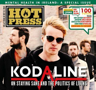 Hot Press Magazine OCTOBER 2018: KODALINE COVER INTERVIEW