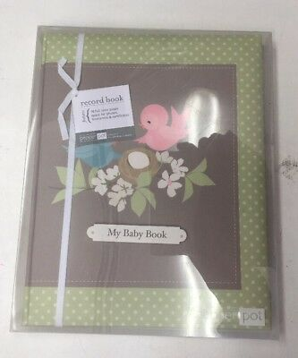 Brand New Baby Record Book By Pepper Pot Neutral Green Beige Baby