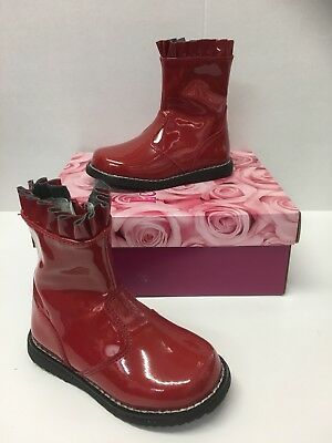 Lelli Kelly LK3312 Funny Infant Girls Boots In Red Patent