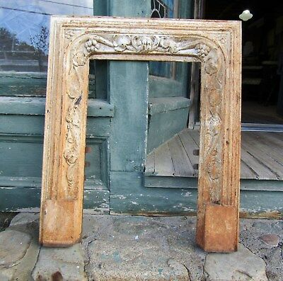 Small Victorian Rococo Cast Iron Fireplace