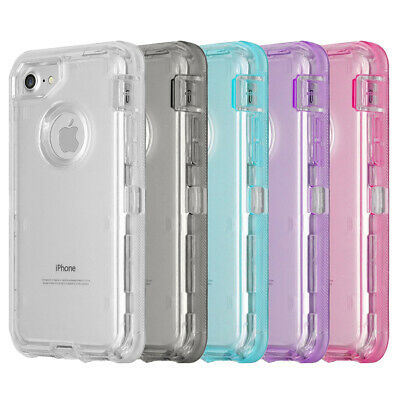 Heavy Duty Marble Transparent Case Cover For iPhone, Fits Otterbox Defender Clip