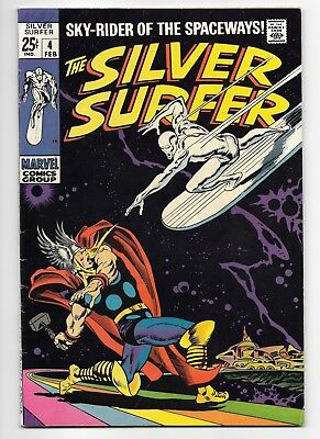 Silver Surfer #4 - MARVEL 1969 - Thor and Loki apps - Stan Lee