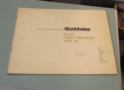 1963 Studebaker Fleet Automobile Brochure Marshal Police Vehicles Taxi Wagonaire