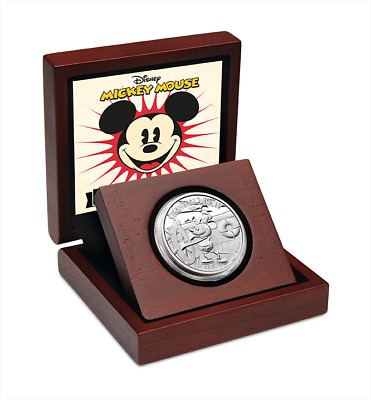 Niue 2014 $2 Disney  Mickey Mouse 1 Oz Fine Silver Proof Coin, STEAMBOAT WILLIE