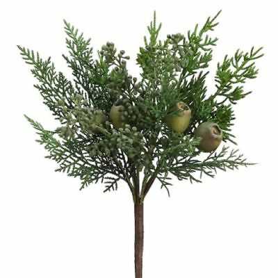 """15"""" Artificial Eucalyptus Seed, Pod & Mixed Pine Stem Pick -Green (pack of 12)"""