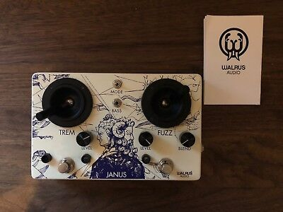 Walrus Janus Fuzz Tremolo Pedal Effect for Guitars and Keyboards