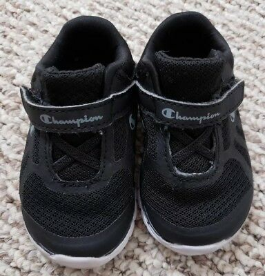 4a5cefc517a4de TODDLER BOYS SHOES Size 6 Champion Sneakers w Velcro Closure -  5.99 ...