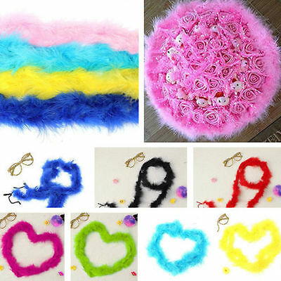 Various Marabou Bridal Fluffy Soft Feather Boa Costume Party Bouquet Home Decor