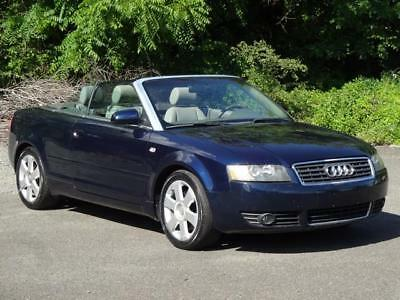 2005 Audi A4 3.0L QUATTRO AWD 4WD CONVERTIBLE CABRIOLET 35K Mls 2DR COUPE LEATHER HEATED/MEMO SEATS BOSE SOUND COLD AC HOME LINK DIGITAL COMPASS