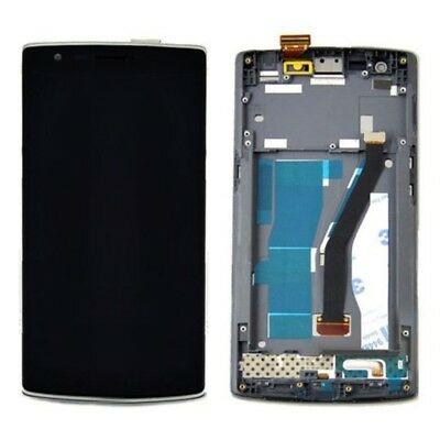 LCD Display + Touch Panel with Frame Replacement for OnePlus One (Black)