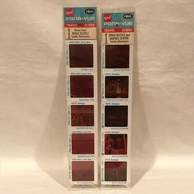 Vintage GAF Pana-Vue Slides Seattle, WA Space Needle and Science Center - NOS