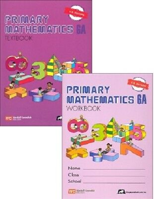 Primary Mathematics 6A Textbook and Workbook - U.S. Edition - New