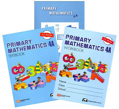 Primary Mathematics 4A Textbook, Workbook, & Home Instructor Guide U.S. Edition