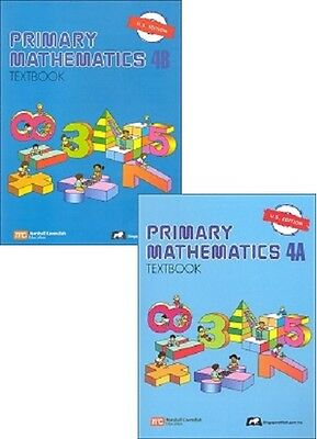Primary Mathematics 4A and 4B SET Textbooks - U.S. Edition - NEW