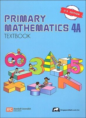 Primary Mathematics 4A Textbook - U.S. Edition NEW