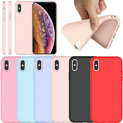 For iPhone XS MAX Soft Silicone Rubber Cute Matte TPU Slim New Case Cover Bumper