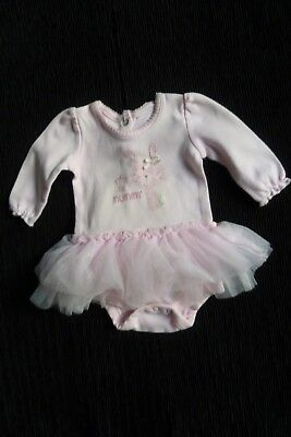 Baby clothes GIRL newborn 0-1 tutu dress/bodysuit cotton/net fun rabbit long sl.