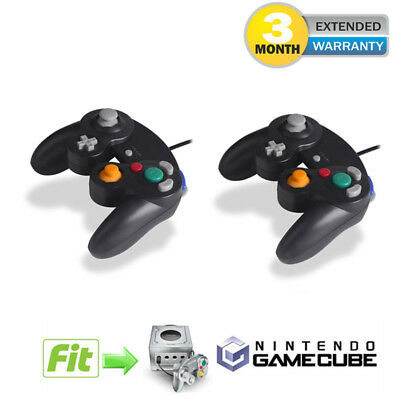 NEW 2 lot x Black Shock Game Controller Pad for Nintendo Gamecube GC NGC Wii