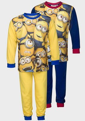 Official Boys Yellow or Blue Minions Pyjamas PJs Size: Age - 4 5 6 8 10 12 years