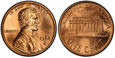 1974 S Lincoln Memorial Cent Uncirculated BU
