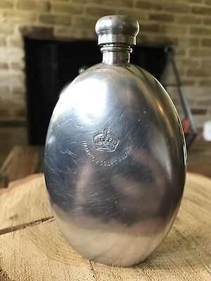 Vintage Sheffield England Hampton Court Palace Crown FLASK Bottle Pewter RARE