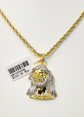 Jesus Pcs. Charm With Free Chain 14Kt High Quality Gold Finish